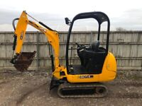 JCB 80.4 1.5 tonne mini digger Fully serviced and ready for work.
