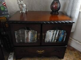 Dark Mahogany Sherlock display/storage cabinet. REDUCED
