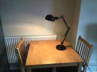 Black adjustable table lamp