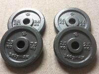 4x2.5kg Hammertone weight plates (new)