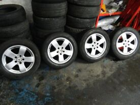 """Mercedes E Class W211 16"""" alloy wheels rims with tyres 225/55 R16"""