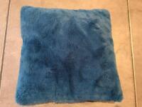 Small furry Teal Silent Night Cushion