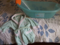 FOR SALE: Baby bath & bathrobe (bundle)