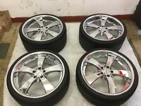 4 Tyres and Alloys for NISSAN MITSUBISHI 245/30/20 285/25/20
