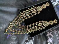 Indian bridal jewellery green and pearl
