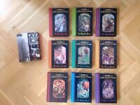'A Series of Unfortunate Events' books 1-9 by Lemony Snicket, perfect condition + Snicket biography