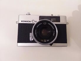 Konica C35 camera and soft case