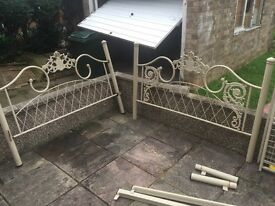 beautiful ornate double bed frame