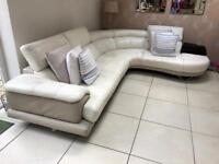 White used leather corner sofa for sale