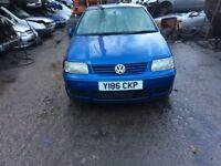 2001 Volkswagen Polo SE 5dr Hatchback 1.4L Petrol Blue BREAKING FOR SPARES