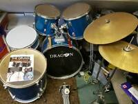 Dragon 7 piece drum kit
