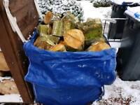 Logs, bulk bag of unseasoned hardwood