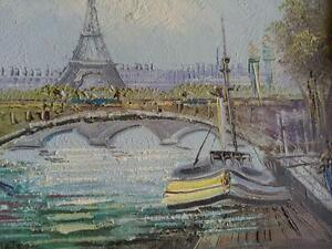 PARIS ; Original art Painting framed in wood; professionally done; like Group of Seven 7 OAKVILLE Pickup