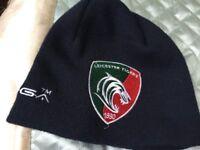 Kooga Unisex Leicester Tiger Rugby Acrylic Plain Beanie Hat Headwear