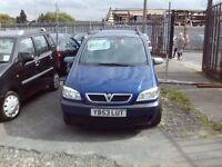 7 SEAT VAUXHALL ZAFIRA 1.6 FULL MOT
