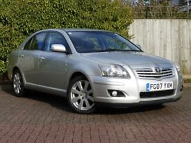 TOYOTA AVENSIS 2.0 D4D T3X 07 REG 130K FSH 2 OWNERS GREAT CONDITION