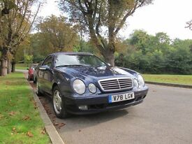 Mercedes convertible. Blue. Two owners. Excellent condition. Full service history.