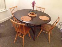 Genuine Ercol drop-leaf dining table