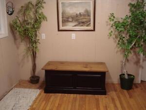 Rustic Pine Blanket Box
