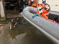 Avon Searider SR4 4.0m RHIB RIB Boat 50hp outboard Johnson