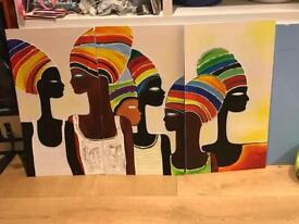3 piece African oil picture