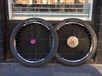 Hope Pro4 Tech DH 27.5/650b Wheelset in Purple / XT Cassette / Vittoria Tyres