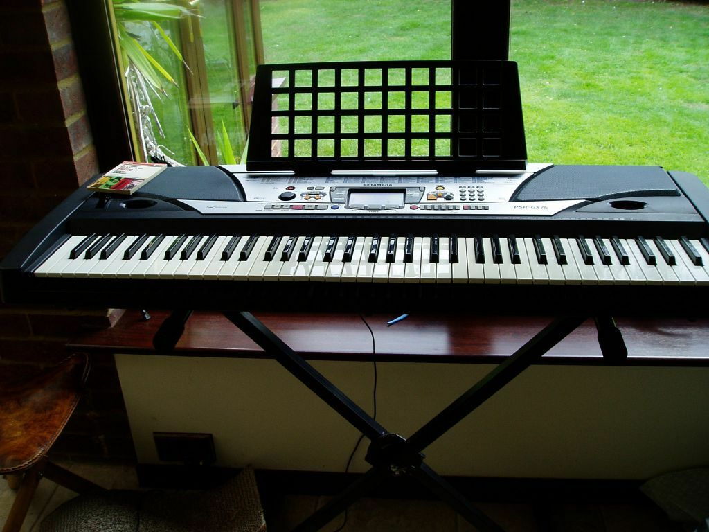yamaha keyboard bass boost system psr gx76 in