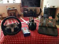 Logitech G25 Steering Wheel,Pedals and gear selector