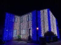 Outdoor Asian Wedding Lights, Venue Lighting, Asian House Lights, Wedding House Lights, LED Curtains