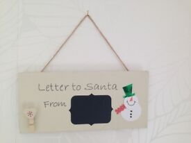Wooden Santa letter plaque