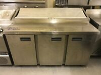 CATERING COMMERCIAL KITCHEN EQUIPMENT PIZZA SALAD TOPPING FRIDGE KEBAB CHICKEN SHOP BAR