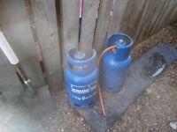 7KG butane gas bottle for sale including regulator