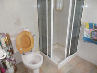RETRO SINK TAPS TOILET AND SHOWER SCREEN PLUS TRAY
