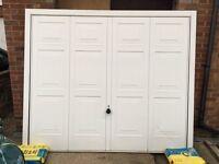 Hormaan up and over garage door in white
