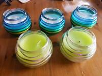 5 x Outdoor Candles