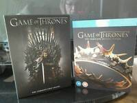 Game of Thrones complete season 1 and 2 .
