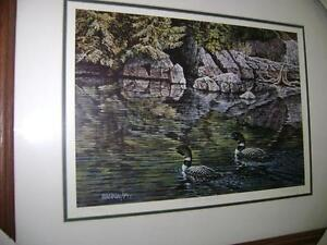 LOW WATER REFLECTION - Art Lithograph - Reduced - $40