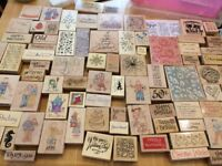 Large amount of wooden backed stamps