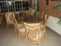 Cane Table and 6 Chairs for Conservatory