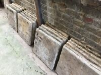 20 no reclaimed Concrete paving slabs (45 x 45cm). Perfect for garden path or small patio