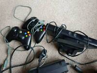 Xbox 360s with games, controllers and Kinect