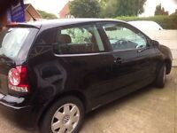 Elegant black VW Polo; lady owner. Very reliable indeed.