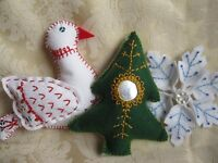 Hand Embroidery Christmas Decorations Workshop
