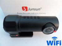 Junsun S30 WIFI Car Dash Cam DVR Camera Video Recorder for Android & IOS Phone Tablet & Car Stereo