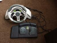 Xbox 360 mc2 steering wheel and pedals