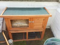 Like New, 3 ft, Outdoor Rabbit Hutch and Run, Wooden, Guinea Pig Bunny Pet House Garden Cage