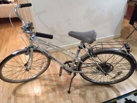 Vintage Raleigh 3 speed women's bike plus accessories (locks, lights, helmet + pump)