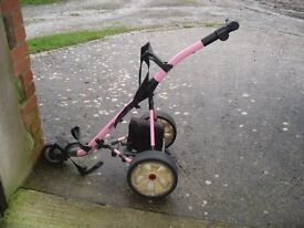 Ladies Electric Golf Trolley With Battery & Carrying Case