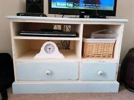 Upcycled tv unit and best of tables