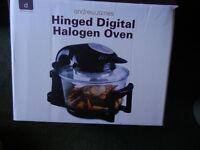 Andrew James Hinged Digital Halogen Oven & Air Fryer Extender Ring